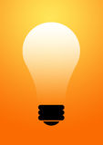 Bulb glowing background Royalty Free Stock Image