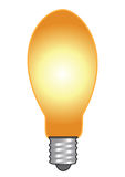 Bulb glowing vector Stock Photography