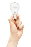 Bulb in hand Royalty Free Stock Image