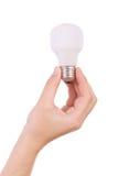bulb hand holding incandescent light Стоковое Фото