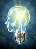 Bulb head Royalty Free Stock Image