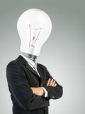 Bulb head man Royalty Free Stock Images