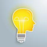 Bulb Headshape. Bulbs headshape on the silver background Stock Photo