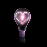Bulb with heart Royalty Free Stock Photo