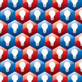 Bulb in hexagonal pattern Stock Photo