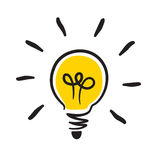 Bulb icon. Effective thinking concept bulb icon Stock Photography