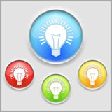 Bulb Icon. Abstract icon of a bulb Royalty Free Stock Images