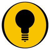 Bulb icon Royalty Free Stock Photos