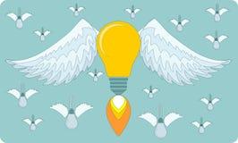Bulb icon with eureka concept. Stock Photo