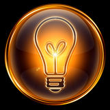 Bulb icon gold Stock Photo