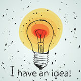 BULB ICON WITH IDEA CONCEPT Royalty Free Stock Image