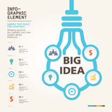 BULB ICON WITH IDEA CONCEPT Royalty Free Stock Photos
