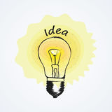 BULB ICON WITH IDEA CONCEPT Royalty Free Stock Images