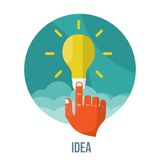 Bulb icon with innovation idea. Vector. Royalty Free Stock Image
