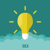 Bulb icon with innovation idea. Vector. Royalty Free Stock Photo