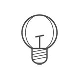 Bulb icon. Outline bulb icon ,vector illustration for web design etc Royalty Free Stock Photo