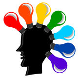 Bulb Icon in  Rainbow colors Royalty Free Stock Image