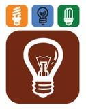 Bulb icons Royalty Free Stock Image