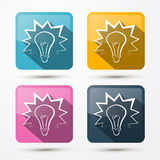 Bulb Icons Stock Images
