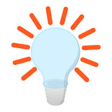 Bulb with idea cartoon icon Stock Photography