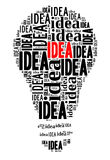 Bulb on IDEA concept Stock Photos