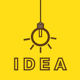 Bulb with idea concept Royalty Free Stock Photos