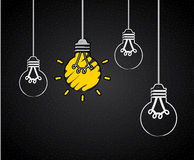 Bulb Idea Design Stock Photography