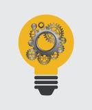 Bulb idea design Stock Photos