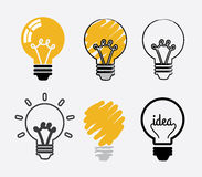 Bulb idea design Royalty Free Stock Images