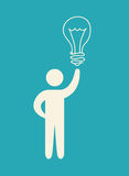 Bulb idea design. Illustration eps10 graphic Royalty Free Stock Photos