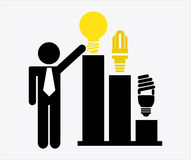 Bulb idea. Design, vector illustration eps10 graphic Stock Images