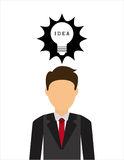 Bulb idea. Design, vector illustration eps10 graphic Royalty Free Stock Photos