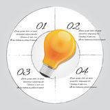 Bulb idea graphic illustration 4 steps template info  business inspiration. Bulb idea graphic illustration 4 steps template info graphic business inspiration Stock Images
