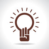 Bulb idea with human hand Stock Images