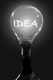 Bulb idea Royalty Free Stock Photography