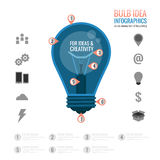 Bulb idea infographics Stock Photos