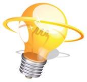 Bulb idea logo Stock Photos