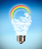 Bulb idea peace rainbow Stock Photography