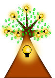 Bulb idea tree stock images