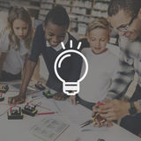 Bulb Ideas Action Vision Thoughts Objective Concept Royalty Free Stock Photography