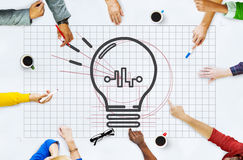 Bulb Ideas Action Vision Thoughts Objective Concept Stock Photo