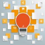 Bulb Infographic Rectangle Light Stock Photos