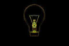 BULB. In Isolated black background Royalty Free Stock Photos