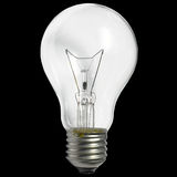 Bulb isolated on black background Stock Photography