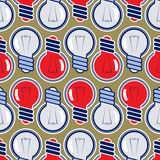 Bulb lamp background pattern Royalty Free Stock Photo