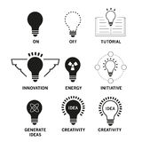 Bulb lamp icons vector Royalty Free Stock Photo