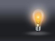 Bulb  lamp light idea background gray Stock Photography