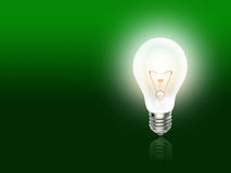 Bulb  lamp light idea background green. Bulb  lamp light idea background bright green Stock Photo