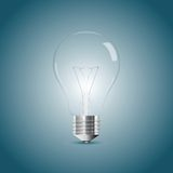 Bulb lamp realistic illustration Royalty Free Stock Photo