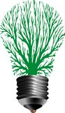 Bulb lamp tree. Vector symbolic illustration for ecological energy with bulb lamp and tree Royalty Free Stock Image